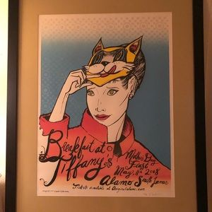Breakfast at Tiffany's Screenprint by Diana Sudyka